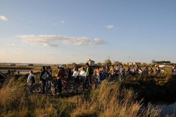 salina in bicicletta
